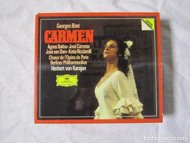 CDs de Música: Caja con 3 CDs + libro Carmen, Georges Bizet. Deutsche Grammophon - Foto 2 - 182644903
