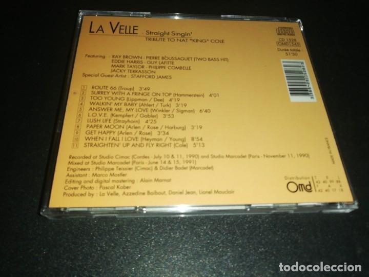 CDs de Música: La velle, straight singin, tribute to Nat king coke - Foto 2 - 182651858