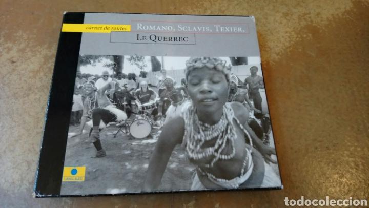 ROMANO, SCLAVIS, TEXIER,LE QUERREC–CARNET DE ROUTES . CD + LIBRO. BUEN ESTADO - JAZZ (Música - CD's Jazz, Blues, Soul y Gospel)