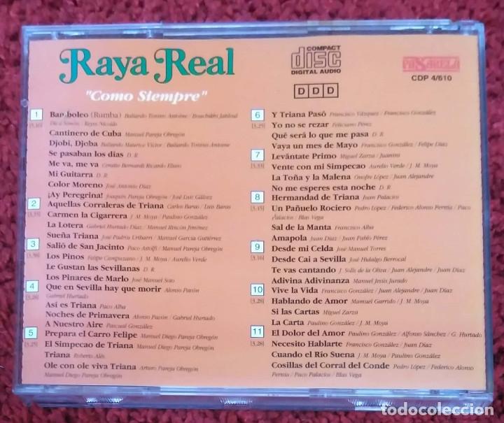 CDs de Música: RAYA REAL (COMO SIEMPRE) CD 1994 - Foto 2 - 182673112