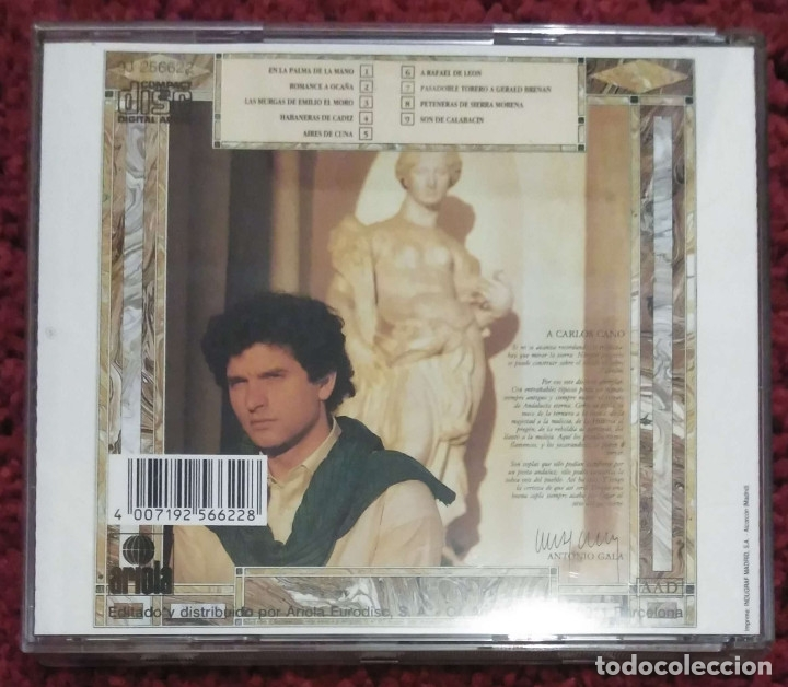 CDs de Música: CARLOS CANO (CUADERNO DE COPLAS) CD 1987 - Foto 2 - 182673313