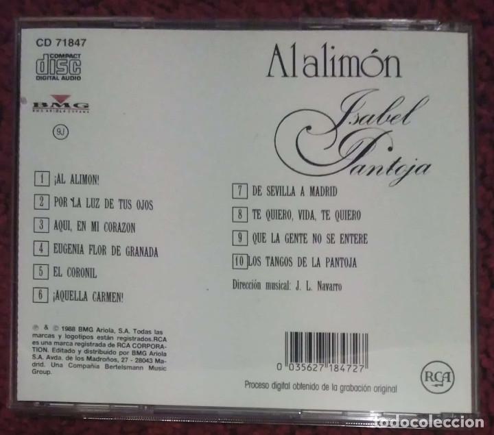 CDs de Música: ISABEL PANTOJA (AL ALIMON) CD 1988 - Foto 2 - 182673580