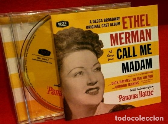 ETHEL MERMAN - 12 SONGS FROM CALL ME MADAM - MUSIC BY IRVING BERLIN -BROADWAY ORIGINAL CAST- DIFICIL (Música - CD's Bandas Sonoras)