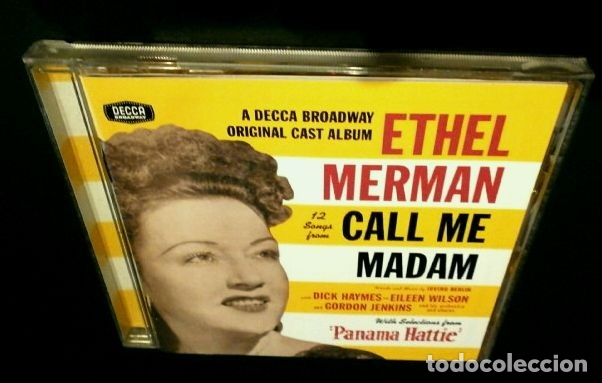 CDs de Música: ETHEL MERMAN - 12 SONGS FROM CALL ME MADAM - Music by Irving Berlin -Broadway original cast- Dificil - Foto 3 - 182686575