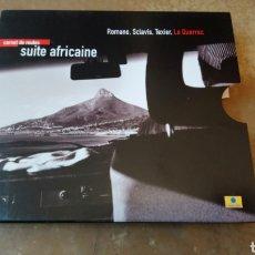 CDs de Música: ROMANO, SCLAVIS, TEXIER,LE QUERREC–CARNET DE ROUTES - SUITE AFRICAINE . CD + LIBRO. NUEVO.. Lote 182690453