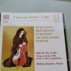 CDs de Música: HAI-YE NI – CELLO RECITAL (NAXOS, EUROPE, 1998). Lote 182724160