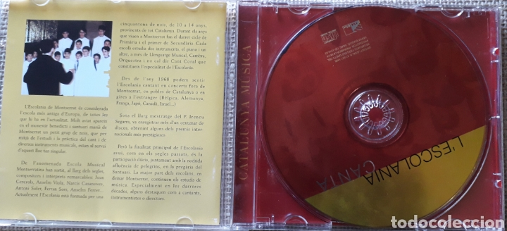 CDs de Música: CD ESCOLANIA CANTA - ESCOLANIA DE MONTSERRAT BARCELONA - DIR. JORDI-AGUSTI PIQUE - 1998 - Foto 2 - 182757093
