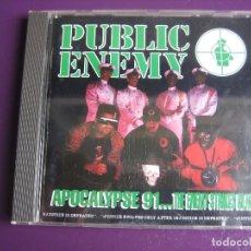 CDs de Música: PUBLIC ENEMY CD DEF JAM - APOCALYPSE 91.. THE ENEMY STRIKES BLACK - HIP HOP - LIGERAS SEÑALES DE USO. Lote 182819763