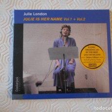 CDs de Musique: JULIE LONDON. JULIE IS HER NAME VOL. 1 + VOL. 2. COMPACTO NUEVO A ESTRENAR CON 29 TEMAS.. Lote 182829553