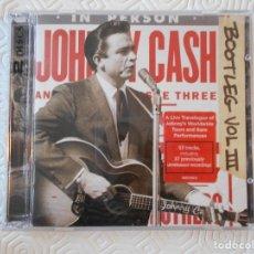 CDs de Música: JOHNNY CASH. DOBLE COMPACTO EN DIRECTO.. Lote 182839806