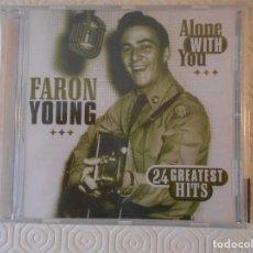 CDs de Música: FARON YOUNG. ALONE WITH YOU. 24 GREATEST HITS. COMPACTO NUEVO A ESTRENAR. . Lote 182841741