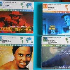 CDs de Música: FORUM BARCELONA 2004- 4 CDS. COMPAY SEGUNDO- CARLITO MARRON- MIRIAM MAKEBA - LUAR:NA LUBRE. Lote 182855233