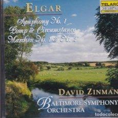 CDs de Música: ELGAR / DAVID ZINMAN - SYMPHONY Nº1 / POMP & CIRCUMSTANCE / MARCHES Nº1 Nº2 . Lote 182880338