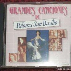 CDs de Música: PALOMA SAN BASILIO (GRANDES CANCIONES DE PALOMA SAN BASILIO) CD 1991. Lote 182892576