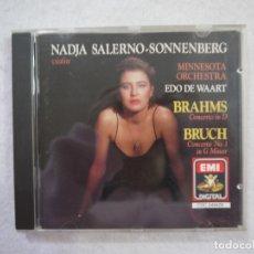 CDs de Música: NADJA SALERNO-SONNENBERG (VIOLIN) Y EDO DEWAART (ORCHESTRA) - BRAHMS CONCERTO / BRUCH CONCERTO - CD . Lote 182901641