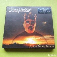 CDs de Música: RHAPSODY - THE DARK SECRET - DIGIPACK - CD + DVD - 2004 - COMPRA MÍNIMA 3 EUROS. Lote 182914251