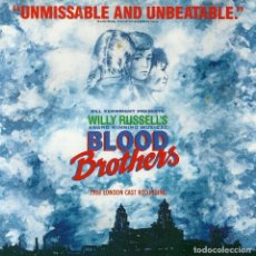 CDs de Música: BLOOD BROTHERS LONDON CAST CD 1988 NUEVO!!! PREMIO MEJOR MUSICAL OPORTUNIDAD ÚNICA WILLY RUSSELL. Lote 221584166