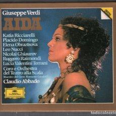 CDs de Música: AIDA GIUSEPPE VERDI OPERA CAJA 3 CD + LIBRETO DE 1982 RF-3340 , IMPECABLE ESTADO. Lote 183067928