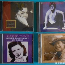 CDs de Música: LOTE DE 4 CDS :3 DE PATSY CLINE Y UNO DE JHON DENVER- . Lote 183086562
