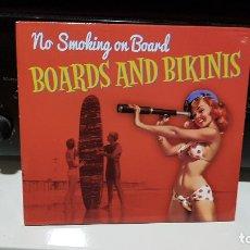 CDs de Música: NO SMOKING ON BOARDS (PORTUGAL) - BOARDS AND BIKINIS - SURF MUSIC MADRID - MÚSICA SURF - CD. Lote 183298798