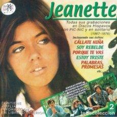 CD di Musica: JEANETTE - TODAS SUS GRABACIONES EN DISCOS HISPAVOX CON PIC-NIC Y EN SOLITARIO (1967-1976) - 2XCD. Lote 240794880