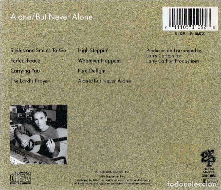 CDs de Música: LARRY CARLTON ALONE/BUT NEVER ALONE - Foto 2 - 183418496