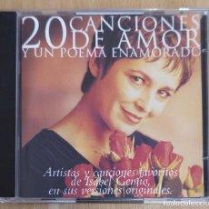 CDs de Música: 20 CANCIONES DE AMOR Y UN POEMA ENAMORADO - 2 CD'S 1994 (AUTE, SERRAT, MARISOL, ROCIO JURADO...). Lote 183439596