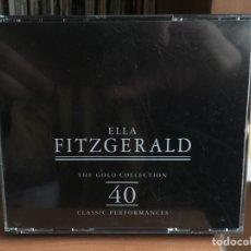 CDs de Música: ELLA FITZGERALD: THE GOLD COLLECTION (40 CLASSIC PERFORMANCES). Lote 183485037