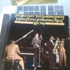 CDs de Música: THE MILES DAVIS/TADD DAMERON QUINTET – IN PARIS FESTIVAL INTERNATIONAL DE JAZZ - MAY, 1949. Lote 183499445