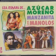 CDs de Música: ESA RUMBA DE AZÚCAR MORENO MANZANITA LOS MANOLOS 3 CD'S 2009 SONY. Lote 183499871