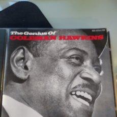 CDs de Música: COLEMAN HAWKINS – THE GENIUS OF COLEMAN HAWKINS. Lote 183537566