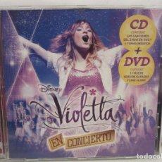 CDs de Música: VIOLETTA - EN CONCIERTO - CD + DVD - WALT DISNEY RECORDS - 2014 - SPAIN - EX+/G. Lote 183541602