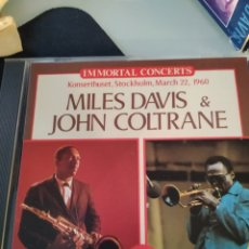 CDs de Música: MILES DAVIS & JOHN COLTRANE - KONSERTHUSET, STOCKHOLM, MARCH 22, 1960 (GIANST OF JAZZ, EUROPE, 1990). Lote 183568747