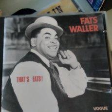CDs de Música: FATS WALLER – THAT'S FATS!. Lote 183573215