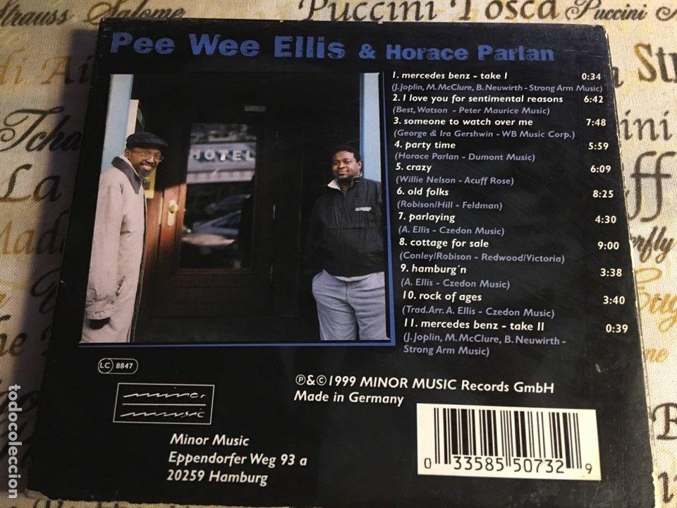 CDs de Música: Pee Wee Ellis, Horace Parlan - Gentle Men Blue (CD) - Foto 2 - 183587761