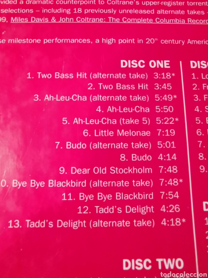 CDs de Música: MILES DAVIS & JOHN COLTRANE BOX SET 6 CDS 3004 - Foto 3 - 183592966