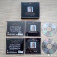 CDs de Música: BELLA ITALIA - MOST FAMOUS HITS - THE ALBUM - 2 CD. Lote 183623138
