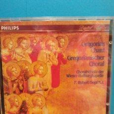 CD de Música: GREGORIAN CHANT. GREGORIANISCHER CHORAL. PHILIPS. Lote 183687901