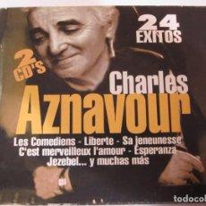 CDs de Música: DOBLE CD CHARLES AZNAVOUR 24 EXITOS. Lote 183704175