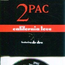 CDs de Música: 2 PAC / CALIFORNIA LOVE (4 VERSI0NES) CD MAXI DEATH ROW RECORDS 1995. Lote 183706457
