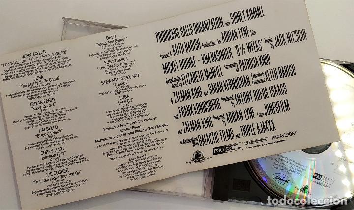 CDs de Música: CD 9 semanas y media (BSO) - varios, España 1993, Capitol Records – CD-001 (EX_EX) - Foto 6 - 183740183