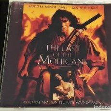 CDs de Música: CD EL ÚLTIMO MOHICANO, THE LAST OF THE MOHICANS- TREVOR JONES Y RANDY EDELMAN,1992, MUY BIEN (EX_EX). Lote 183740526