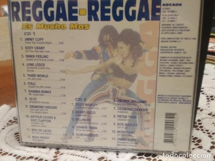 CDs de Música: REGGAE - REGGAE ES MUCHO MAS - 2 CD ARCADE 1993 BOB MARLEY JIMMY CLIFF PETER TOSH RITA MARLEY PEPETO - Foto 2 - 183742068
