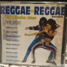 CDs de Música: REGGAE - REGGAE ES MUCHO MAS - 2 CD ARCADE 1993 BOB MARLEY JIMMY CLIFF PETER TOSH RITA MARLEY PEPETO. Lote 183742068