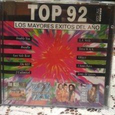 CDs de Música: TOP 92 LOS MAYORES EXITOS DEL AÑO CD POP DISCO DANCE COMO NUEVO ARCADE 1992 PEPETO. Lote 183742223
