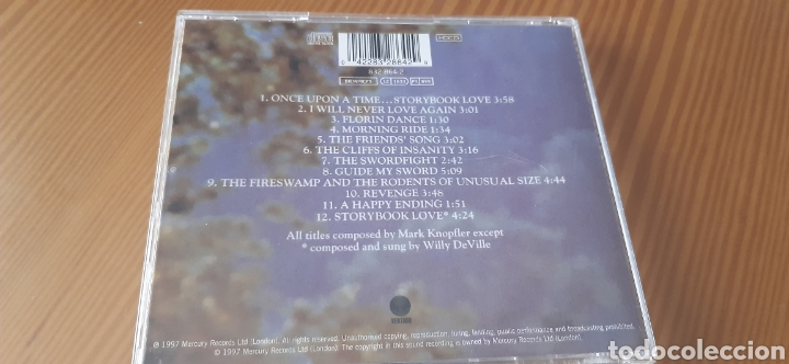 CDs de Música: Edicion Uk ,especial remasterizada de 1997,LA PRINCESA PROMETIDA,Música de MARK KNOPFLER - Foto 3 - 183762201