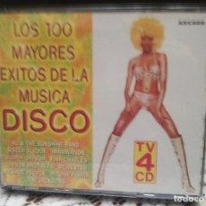 CDs de Música: LOS 100 MAYORES EXITOS DE LA MÚSICA DISCO (VER TEMAS EN CARÁTULA TRASERA) 4 CD. Lote 183776007