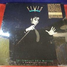 CDs de Música: ELVIS PRESLEY, THE COMPLETE 50'S MASTERS, BOX SET, 5 CD'S Y SELLOS, ESTAMPAS DE COLOR Y LIBRETO.. Lote 183791536