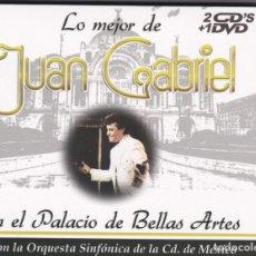 CDs de Música: LO MEJOR DE JUAN GABRIEL / EN EL PALACIO DE BELLAS ARTES - 2XCDS + DVD DIGISLEEVE. Lote 183793922