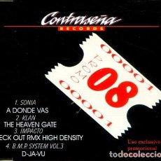 CDs de Música: CONTRASEÑA PROMO 08 (4 TEMAS) CDMAXI PROMO 1996. Lote 183799906
